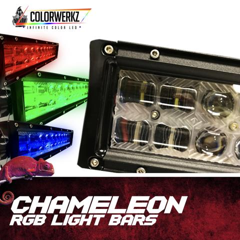 RGB Backlit Chameleon Series Light Bars LED headlight kit  AutoLEDTech Colorwerkz Oracle Starry Night Flashtech