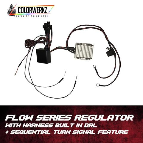 Flow Series Regulator + Harness | Built-In DRL & Sequential Turn Signal Feature LED headlight kit  AutoLEDTech Colorwerkz Oracle Starry Night Flashtech