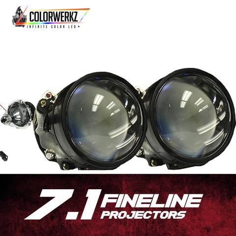 H1 7.1 Projector Housings LED headlight kit  AutoLEDTech Colorwerkz Oracle Starry Night Flashtech