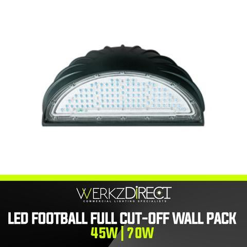 LED Wall Pack Light - Football Cutoff (45W | 70W) - PanhandleLEDs Commercial LED lighting