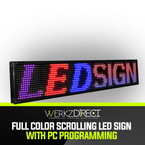 Full Color Scrolling LED Sign with PC Programming - PanhandleLEDs Commercial LED lighting