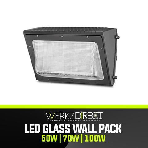 LED Glass Wall Pack Light (50W | 70W | 100W) - PanhandleLEDs Commercial LED lighting