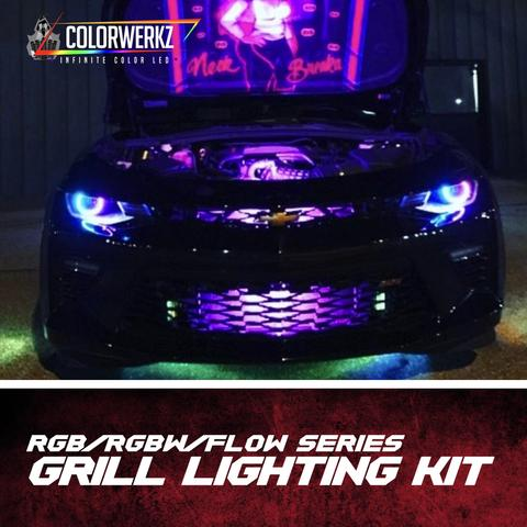 Grill Lighting LED Strips Kit (RGB|RGBW|Flow Series) LED headlight kit AutoLEDTech Colorwerkz Oracle Lighting Trendz Flow Series Flashtech