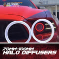 Halo Diffusers LED headlight kit  AutoLEDTech Colorwerkz Oracle Starry Night Flashtech