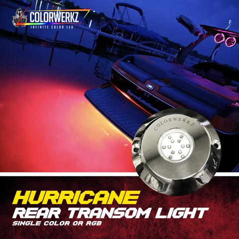 Hurricane Rear Transom Color-Changing LED Marine Light (RGB)