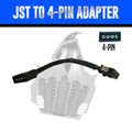 JST to 4-Pin Adapter LED headlight kit  AutoLEDTech Colorwerkz Oracle Starry Night Flashtech