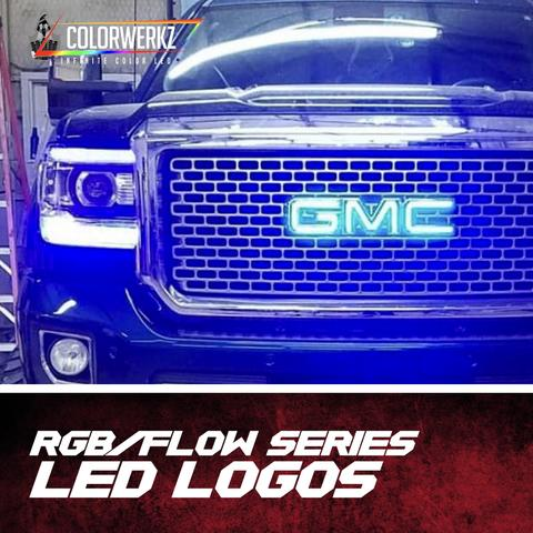 GMC LED Emblem Logo (RGB/Flow Series) LED headlight kit  AutoLEDTech Colorwerkz Oracle Starry Night Flashtech