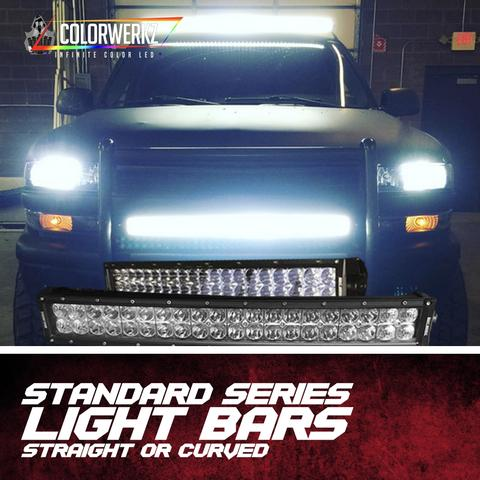 Straight or Curved LED Light Bars LED headlight kit AutoLEDTech Colorwerkz Oracle Lighting Trendz Flow Series Flashtech