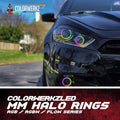Universal Color-Changing Circular Halo Rings (RGBW) LED headlight kit  AutoLEDTech Colorwerkz Oracle Starry Night Flashtech