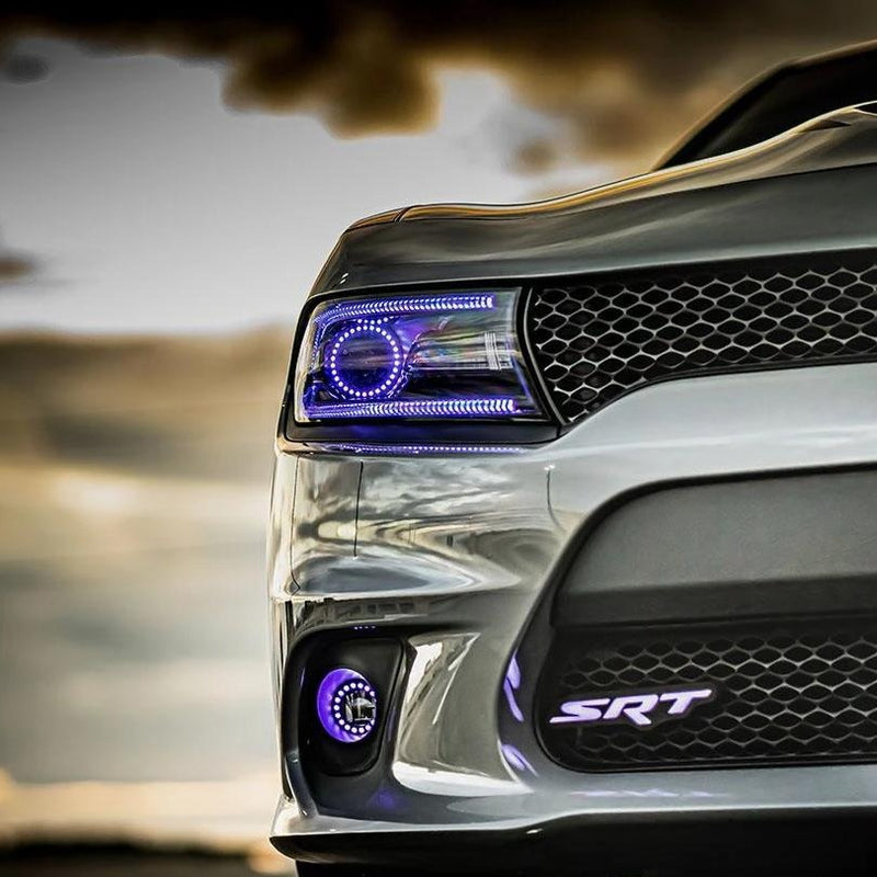 Dodge Mopar LED Badge Emblem Logos (RGB/White) LED headlight kit AutoLEDTech Colorwerkz Oracle Lighting Trendz Flow Series Flashtech