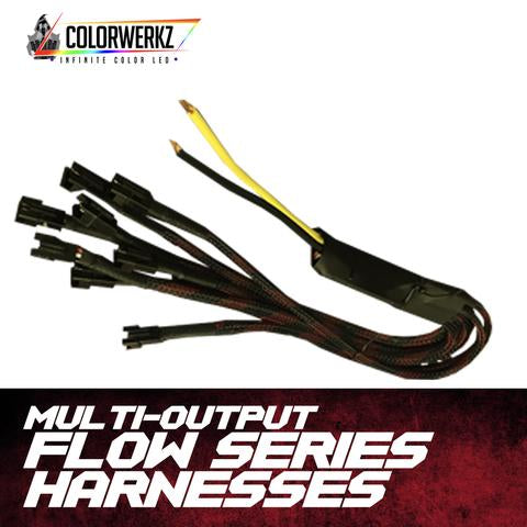 Flow Series Wiring Harnesses LED headlight kit AutoLEDTech Colorwerkz Oracle Lighting Trendz Flow Series Flashtech RGBHaloKits LED Concepts