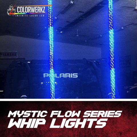 Flow Series Color-Chasing LED Flexible Whip Light LED headlight kit  AutoLEDTech Colorwerkz Oracle Starry Night Flashtech