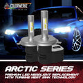 High Powered 6k Pure White LED Headlight / Foglight Bulbs (40W)
