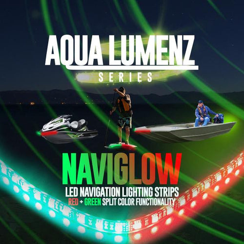 Red + Green LED Navigation Marine Lights LED color chasing headlight halo kit  AutoLEDTech & Colorwerkz