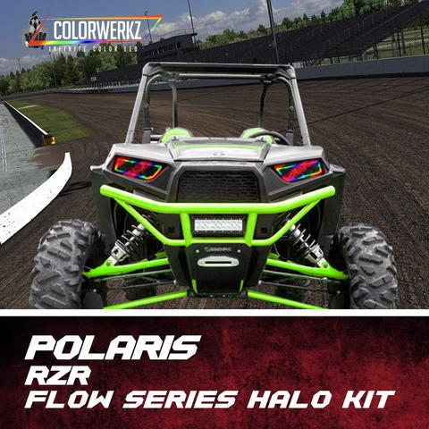 Waterproof Polaris RZR Flow Series Exterior Halo Kit LED headlight kit  AutoLEDTech Colorwerkz Oracle Starry Night Flashtech