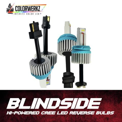 High Powered Cree LED Reverse Light Bulbs (1200lm) LED headlight kit AutoLEDTech Colorwerkz Oracle Lighting Trendz Flow Series Flashtech