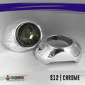 Projector Shrouds (Black/Chrome) LED headlight kit  AutoLEDTech Colorwerkz Oracle Starry Night Flashtech