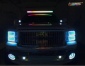 2007-2013 GMC Sierra Color-Chasing Halo Kit LED headlight kit AutoLEDTech Colorwerkz Oracle Lighting Trendz Flow Series Flashtech RGBHaloKits LED Concepts