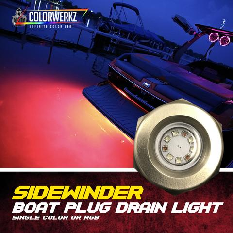 Sidewinder Boat Drain Plug Color-Changing LED Marine Light (RGB)