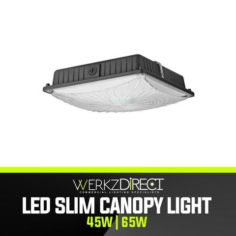 LED Canopy Light - Slim (45W | 65W) - PanhandleLEDs Commercial LED lighting