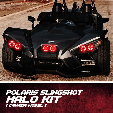 Polaris Slingshot Waterproof Exterior Halo Kit [Canada Model] LED headlight kit  AutoLEDTech Colorwerkz Oracle Starry Night Flashtech