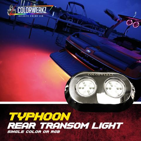 Typhoon Double Rear Transom Color-Changing LED Marine Light (RGB)