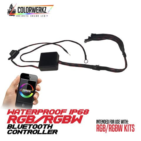 Waterproof RGB/RGBW Bluetooth Controller LED headlight kit  AutoLEDTech Colorwerkz Oracle Starry Night Flashtech