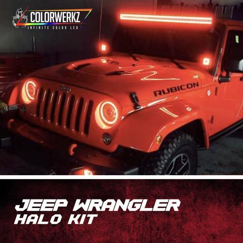 1997-2018 Jeep Wrangler JK Color-Chasing Waterproof Exterior Halo Kit