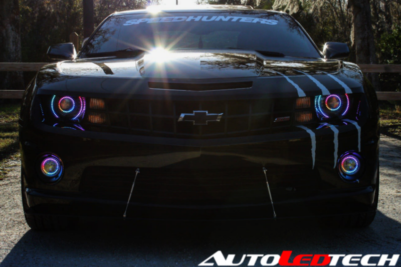 2010-2013 Chevrolet Camaro Color-Chasing Halo Kit LED headlight kit  AutoLEDTech Colorwerkz Oracle Starry Night Flashtech