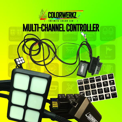 Multi-Channel Lighting Controller LED color chasing headlight halo kit  AutoLEDTech & Colorwerkz