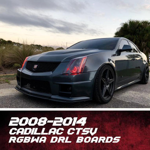2009-2015 Cadillac CTS-V RGBW +A DRL Boards LED headlight kit AutoLEDTech Colorwerkz Oracle Lighting Trendz Flow Series Flashtech
