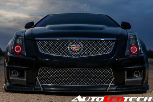 2008-2015 Cadillac CTS CTS-V Color-Chasing Halo Kit LED headlight kit AutoLEDTech Colorwerkz Oracle Lighting Trendz Flow Series Flashtech RGBHaloKits LED Concepts