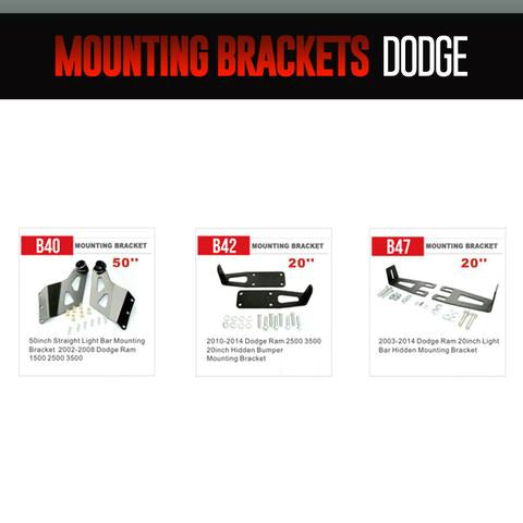 Dodge Light Bar Mounting Brackets LED headlight kit  AutoLEDTech Colorwerkz Oracle Starry Night Flashtech