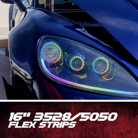 Flow Series Flexible LED DRL Tubes (12"