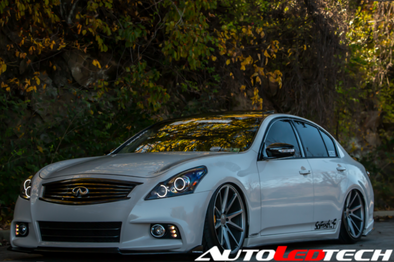 2008-2015 Infiniti G37 Color-Chasing Halo Kit LED headlight kit  AutoLEDTech Colorwerkz Oracle Starry Night Flashtech