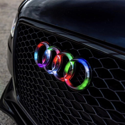 Audi Rings RGBW Color-Changing LED Emblem Logo Badge (Flow Series) LED headlight kit AutoLEDTech Colorwerkz Oracle Lighting Trendz Flow Series Flashtech RGBHaloKits LED Concepts