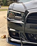2011-2014 Dodge Charger RGBW Color-Chasing LED Halo OEM Projector Headlights (Flow Series)
