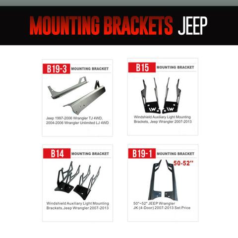 Jeep Light Bar Mounting Brackets LED headlight kit  AutoLEDTech Colorwerkz Oracle Starry Night Flashtech