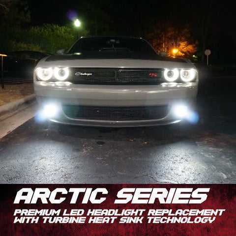 2008-2020 Dodge Challenger Replacement 6K LED Headlight / Fog Light Bulbs (40W) LED headlight kit AutoLEDTech Colorwerkz Oracle Lighting Trendz Flow Series Flashtech RGBHaloKits LED Concepts