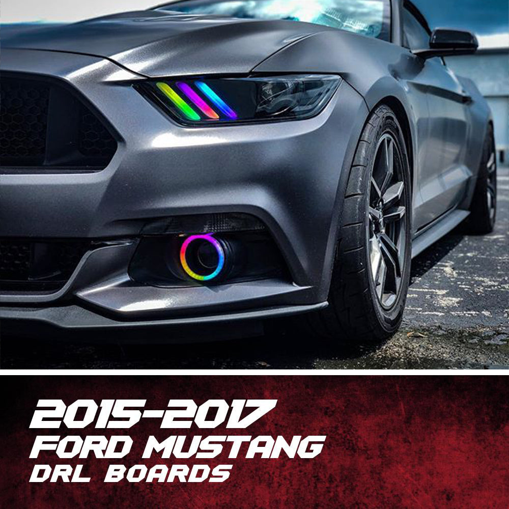 2015 2017 Ford Mustang Color Chasing Drl Boards Autoledtech Com