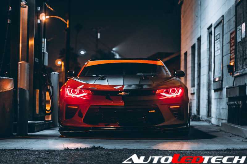 2016-2018 Chevrolet Camaro Color-Chasing/RGBW +A LED DRL