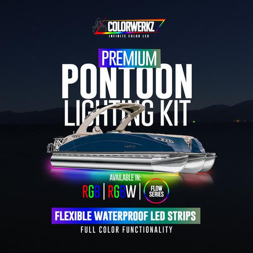 Color-Changing LED Strips Pontoon Boat Lighting (RGB/Flow) LED color chasing headlight halo kit  AutoLEDTech & Colorwerkz