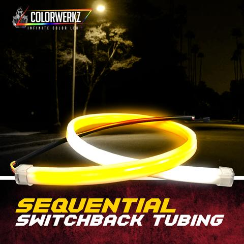 Sequential Switchback Flex Tubing/Strips LED headlight kit  AutoLEDTech Colorwerkz Oracle Starry Night Flashtech