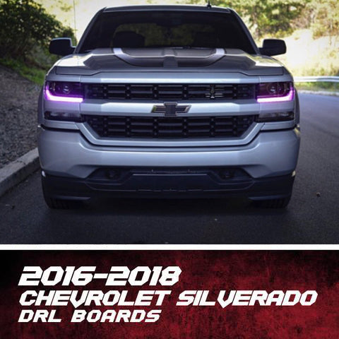 2016-2018 Chevrolet Silverado Color-Chasing/RGBW +A DRL Boards