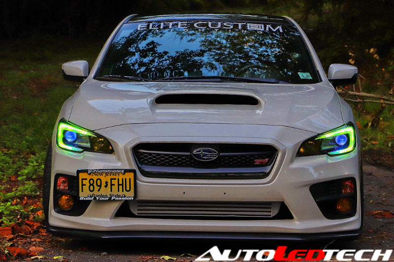 2015-2017 Subaru WRX/STI RGBW Color-Chasing C-Bar DRL Board Halo Kit LED headlight kit AutoLEDTech Colorwerkz Oracle Lighting Trendz Flow Series Flashtech RGBHaloKits LED Concepts