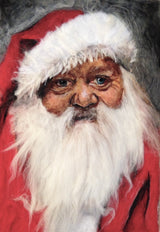 Father Christmas wool artwork by Sarah Vaci