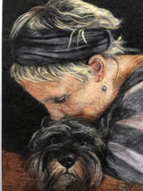 Custom people pet portrait by Sarah Vaci