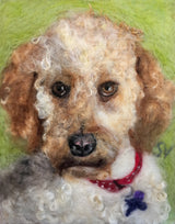 Custom cockapoo labradoodle wool pet portrait by Sarah Vaci