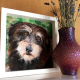 custom dog pet portrait pet loss memorial dog portrait in wool