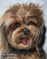 Yorkshire Terrier wool painting pet portrait by Sarah Vaci